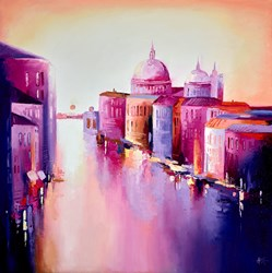 Grand Canal by Anna Gammans - Original Painting on Stretched Canvas sized 32x32 inches. Available from Whitewall Galleries