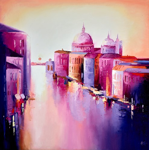 Grand Canal by Anna Gammans - Original Painting on Stretched Canvas